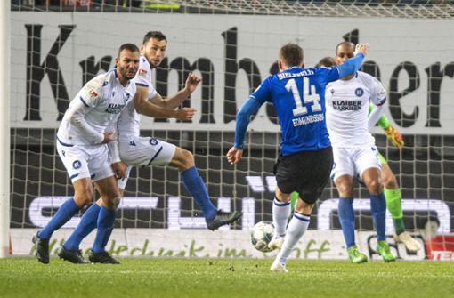 Elfmeter und späte Treffer: KSC nur 2:2 in Bielefeld