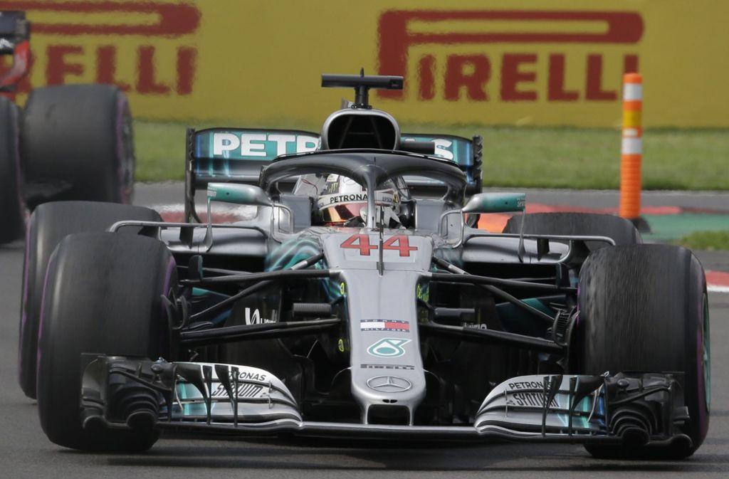Ein Jahr nach seinem WM-Triumph an gleicher Stelle reichte dem Mercedes-Star Lewis Hamilton der vierte Platz zum fünften WM-Titel. Foto: AP