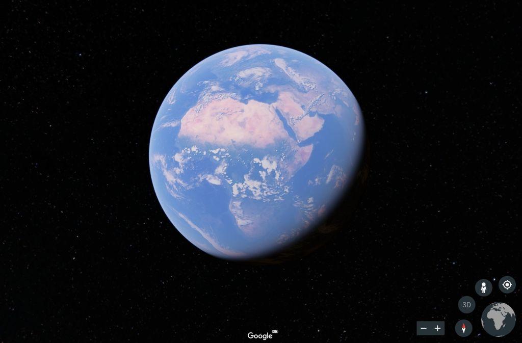 Nach einem großen Update für Google Earth können Nutzer die Welt drehen und wenden, wie sie wollen. Und auf große Erkundungstour gehen – zum Beispiel durch Stuttgart. Foto: Screenshot