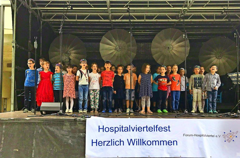 Kleine Choristen: Rührender Vortrag  der Kinder aus der jüdischen Kita Foto: Martin Haar