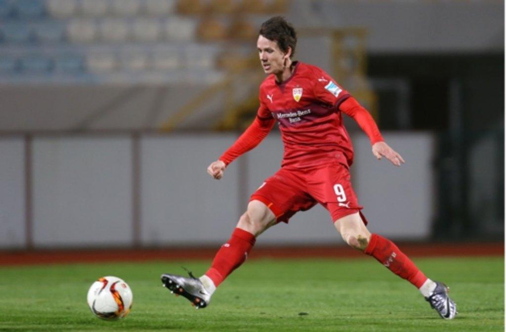 Robbie Kruse stand nur selten für den VfB Stuttgart auf dem Platz, jetzt kehrt er nach Leverkusen zurück. Foto: Pressefoto Baumann