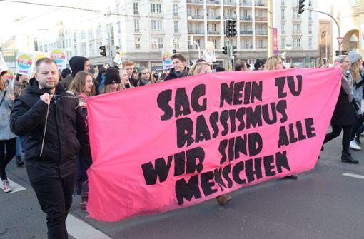 Demonstration gegen Rassismus und Hass