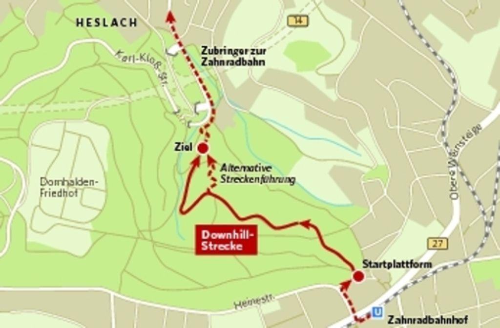 Die geplante Downhill-Strecke soll von Degerloch aus bis in den Stuttgarter Süden durch den Wald verlaufen. Foto: StZ