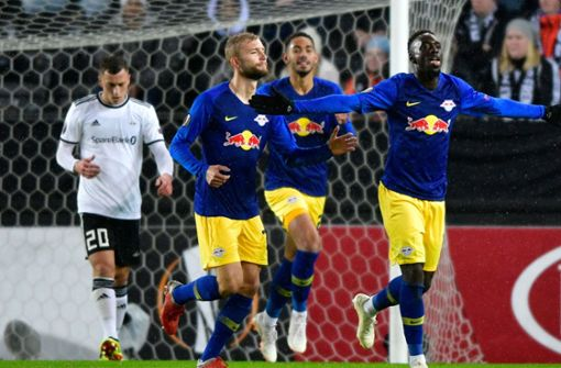 RB Leipzig gewinnt gegen Rosenborg Trondheim