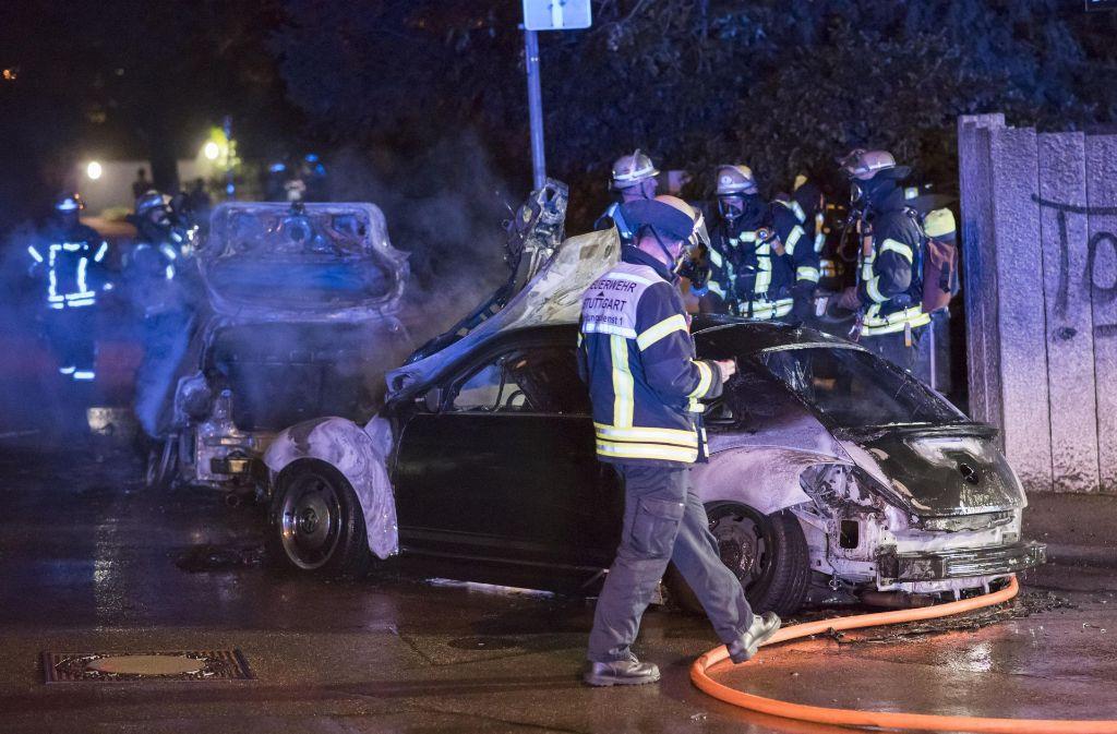Dieser VW Beetle wurde am Mittwochmorgen ein Raub der Flammen. Foto: 7aktuell.de/Oskar Eyb