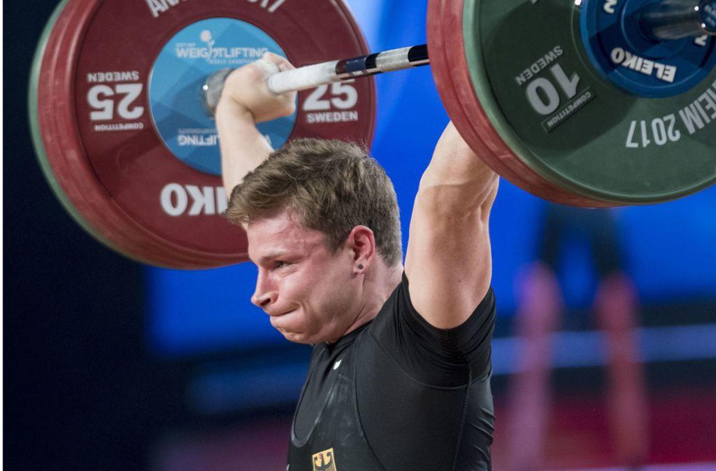 Max Lang ist Teil der Gewichtheber-Nationalmannschaft. Über seinen Instagram-Account informiert er 95.000 Follower über seinen Sport. Foto: dpa/Michael Goulding