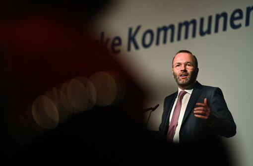 Manfred Weber erntet  Kopfschütteln