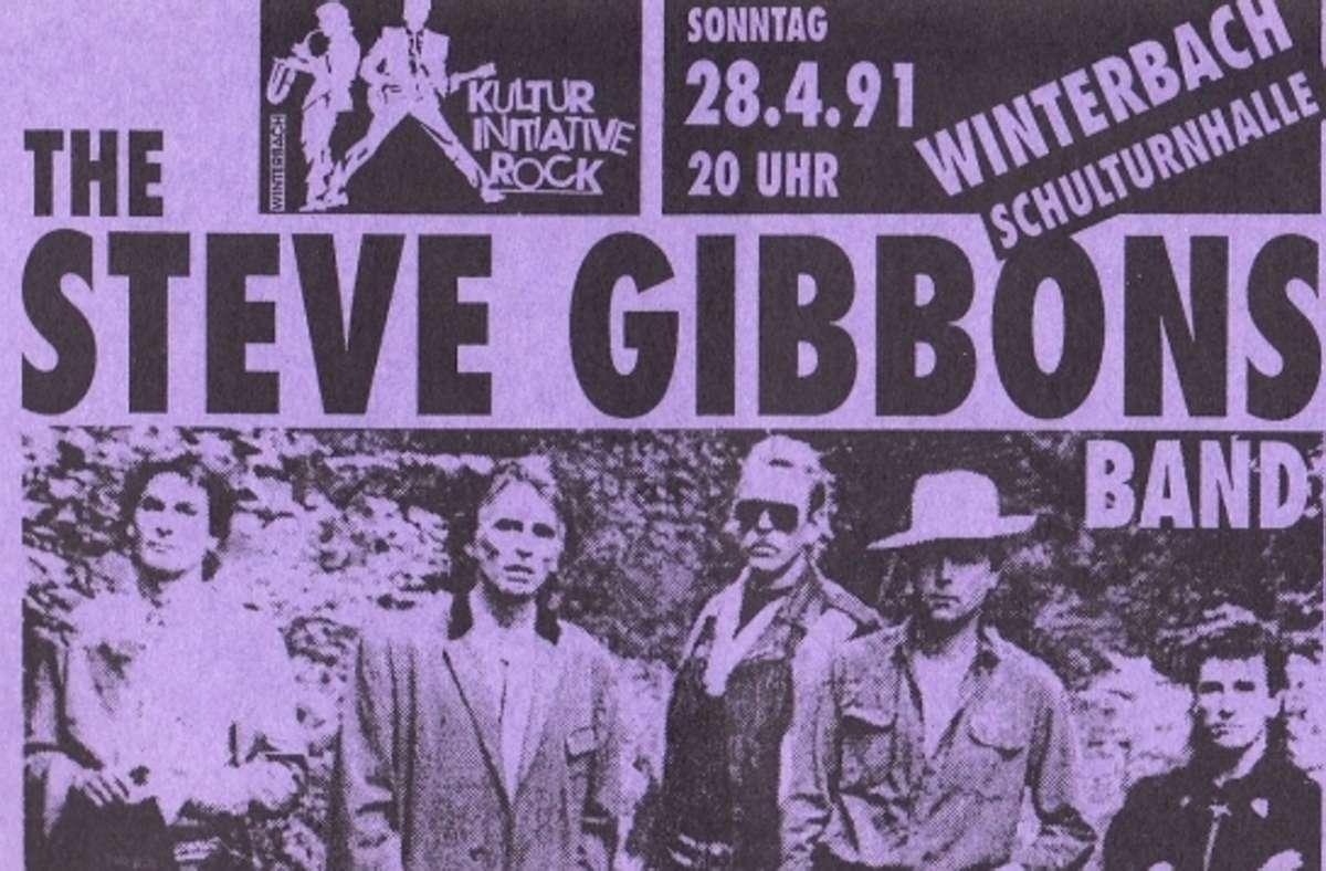 Mit dem Auftritt des englischen Musikers Steve Gibbons fing 1991 alles an. Foto: Kulturinitiative Rock