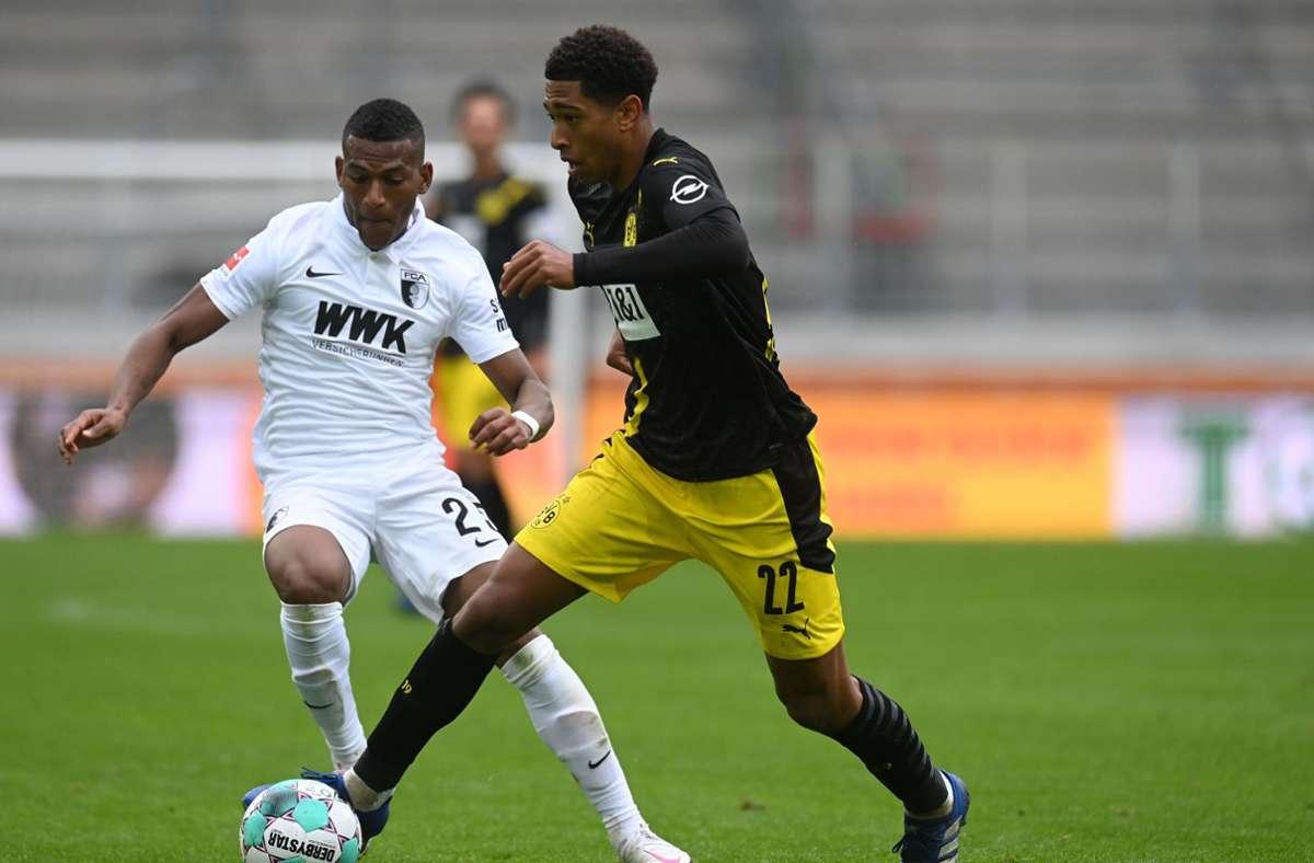 Augsburg siegte überraschend gegen Dortmund. Foto: AFP/CHRISTOF STACHE