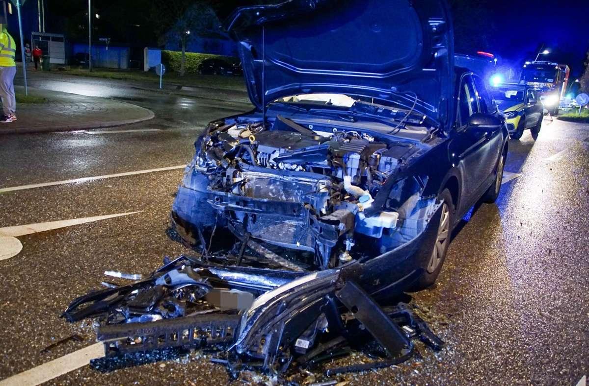 In Tamm ist am Donnerstagabend ein Seat mit einem VW zusammengestoßen. Foto: SDMG/SDMG / Hemmann