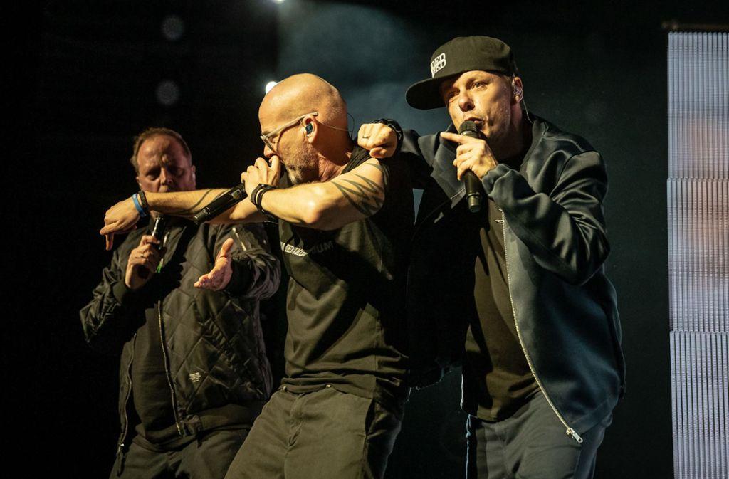 Die Fantastischen Vier bei ihrem Konzert in der Stuttgarter Schleyerhalle im Dezember 2018Foto:Lichtgut/ Julian Rettig Foto: