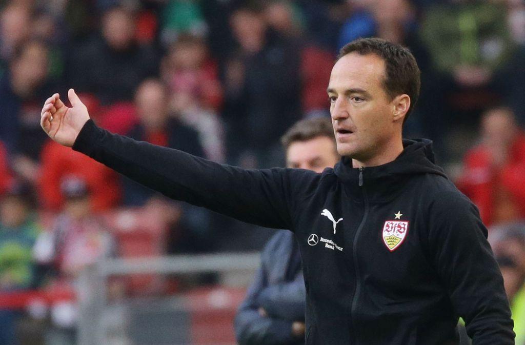 Überzeugender erste Auftritt in der Bundesliga: Interimstrainer Nico Willig vom VfB Stuttgart Foto: Baumann