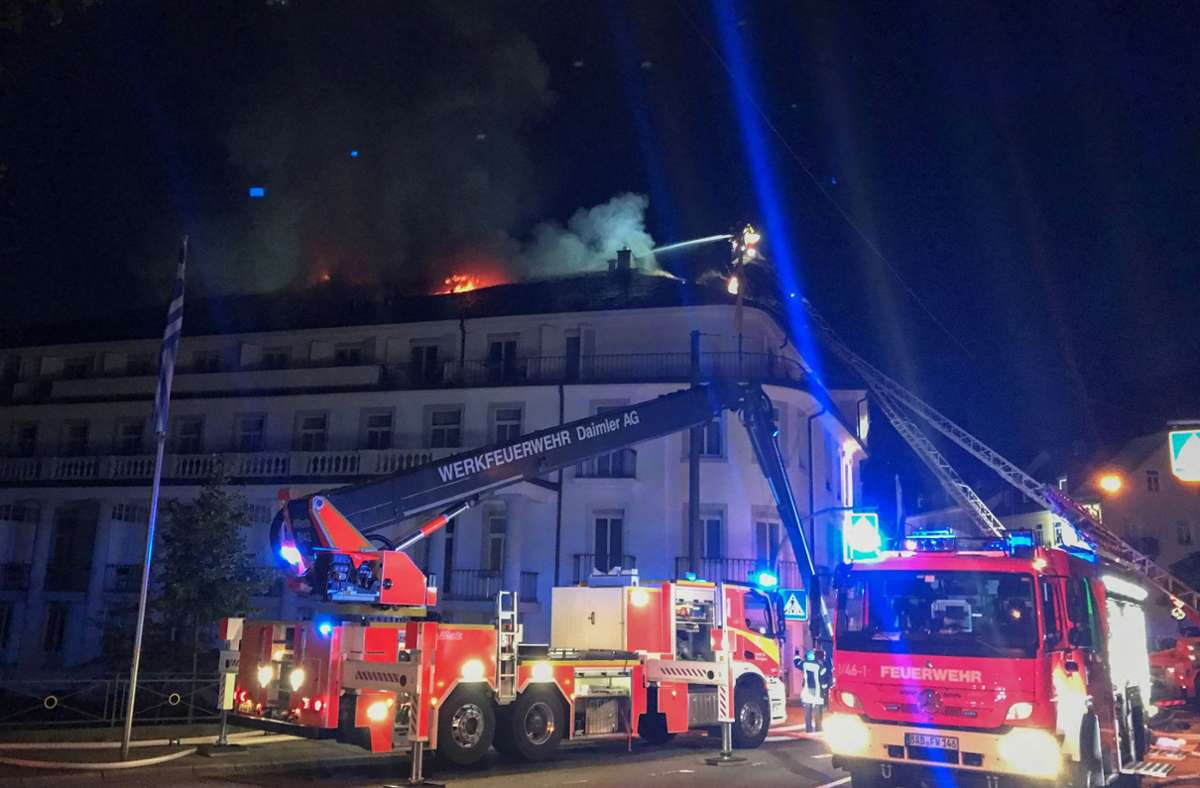 Großbrand in Baden-Baden Foto: dpa/Patrick Neumann
