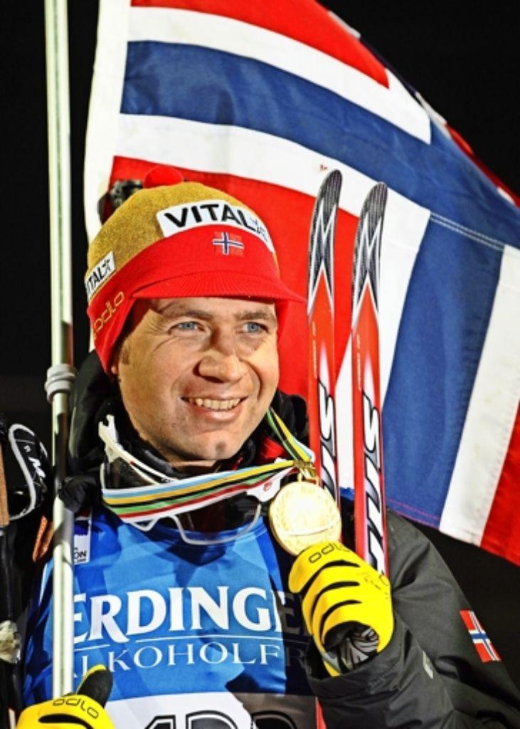 Der Biathlet Ole Einar Bjørndalen  isst am liebsten Steinpilz-Lasagne. Foto: dpa