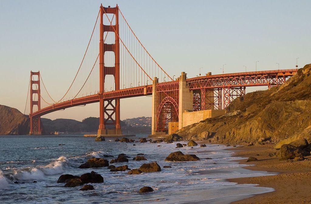 Die vielleicht berühmteste Brücke der Welt: Die Golden Gate Brigde bei San Francisco. Foto: Wikipedia commons/Christian Mehlführer/CC BY-SA 3.0