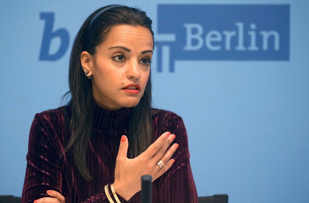 Die Berliner Staatssekretärin Sawsan Chebli (SPD) erlebte wegen ihres Migrationshintergrundes schon Hass und Hetze. Foto: dpa/Wolfgang Kumm