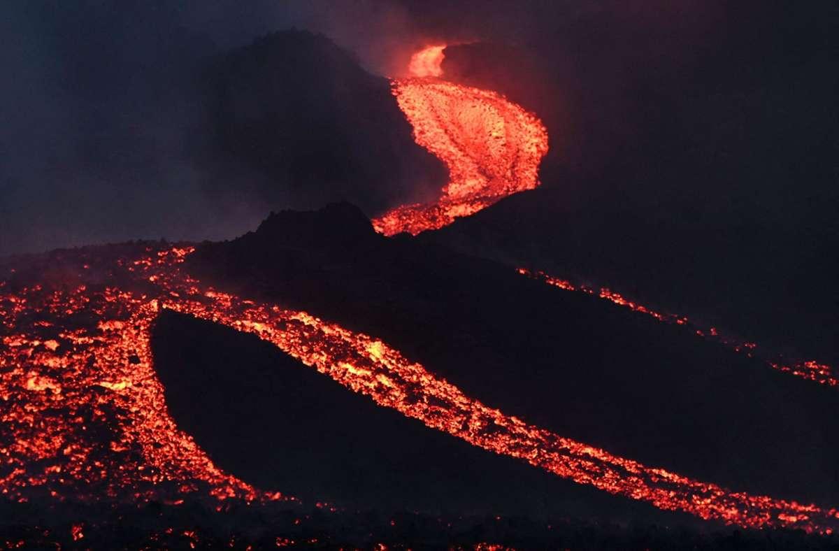 Lava strömt vom Vulkan Pacaya. Foto: AFP/JOHAN ORDONEZ