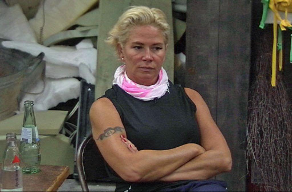 Sie motzt, zetert und schimpft: Claudia Effenberg beschallt den Promi Big Brother-Keller mit ständigem Gejammer. Foto: Sat.1
