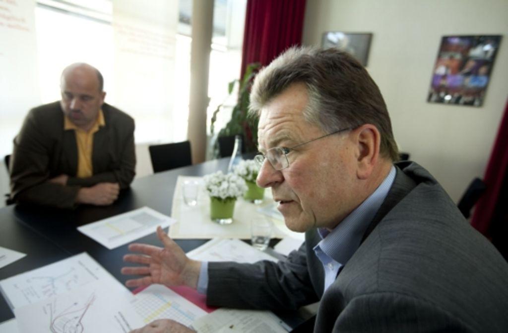 Walter Bauer (r.) und Rolf Kurfess wollen sich in die Stuttgart-21-Planung auf den Fildern einmischen. Foto: Horst Rudel