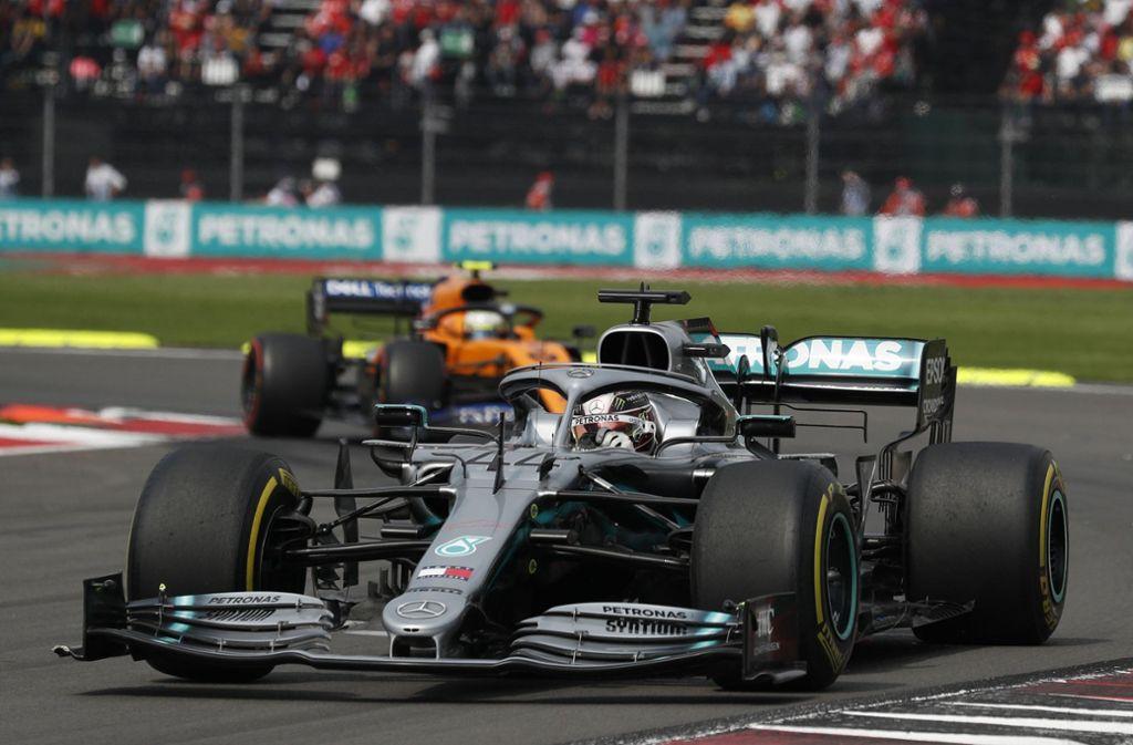 Lewis Hamilton zeigte in Mexiko eine starke Leistung. Foto: dpa/Rebecca Blackwell