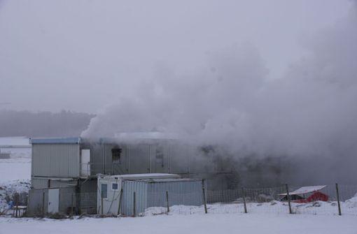 S21-Wohncontainer brennen – 250.000 Euro Schaden