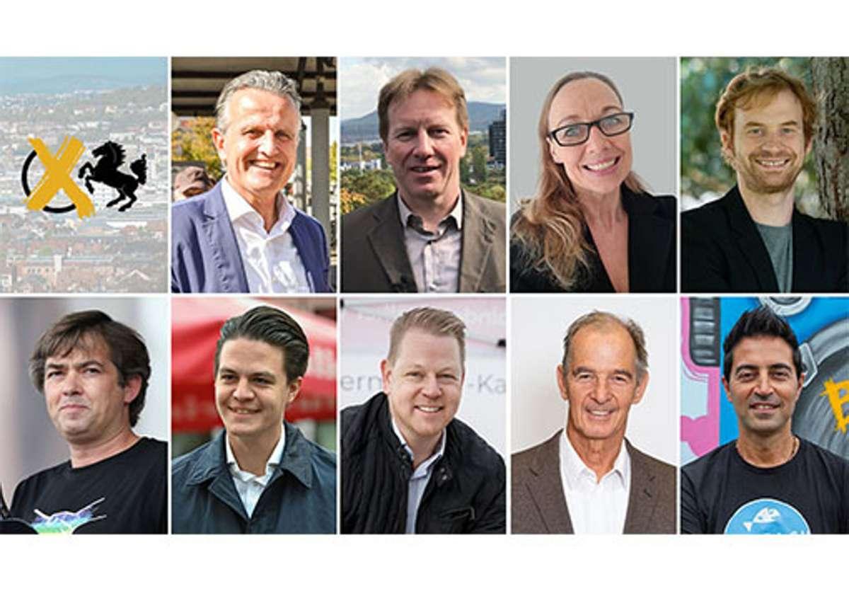 Diese neun OB-Kandidaten treten für die Wahl am 29. November an. Foto: Lichtgut/Kovalenko, Piechowski, Zweygarth, Iaonne