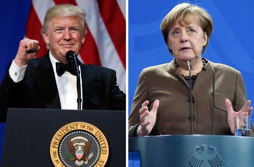 Harmonie zwischen Merkel und Trump kaum denkbar