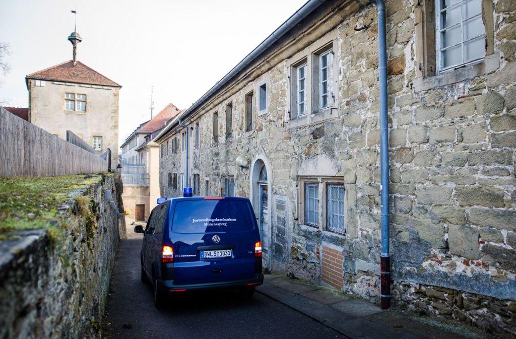 Im Gefängniskrankenhaus Hohenasperg hat es am Dienstag gebrannt. Foto: dpa