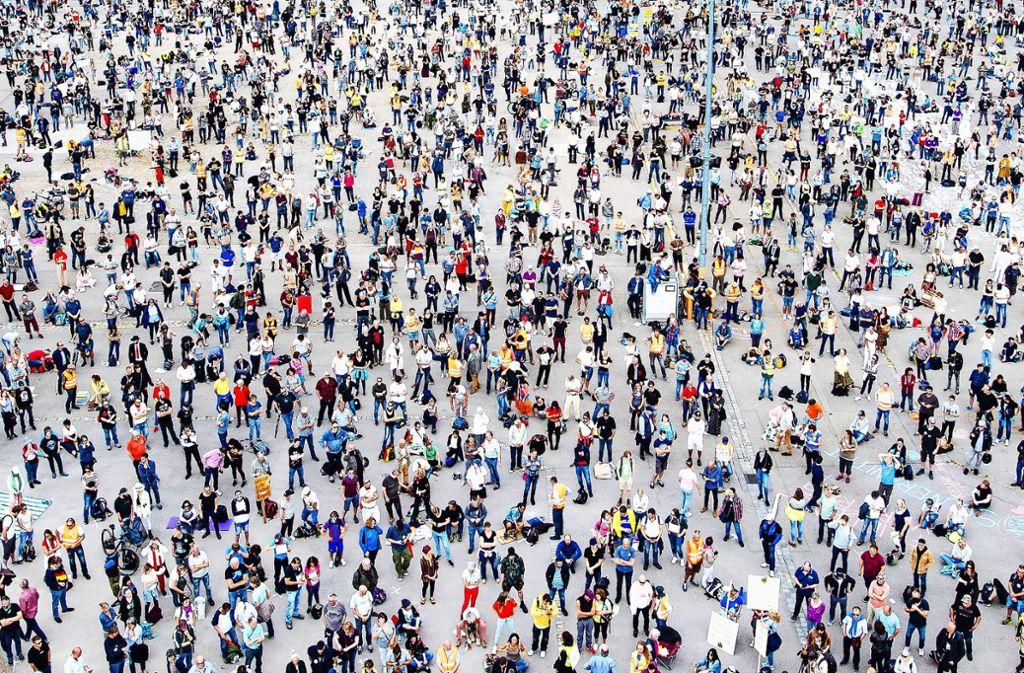Knapp zehntausend Teilnehmer waren auf dem Wasen. Foto: 7aktuell.de/Marc Gruber