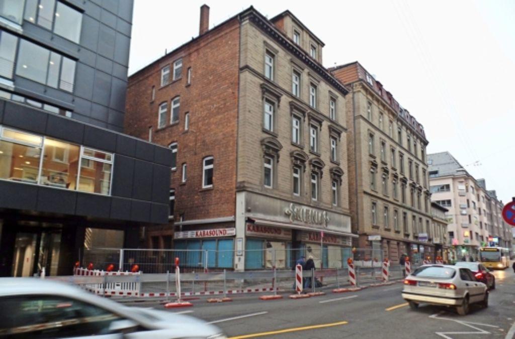 Das Haus Schwabstraße 45 war  der  Sitz der   Textilfirma Kienle. Foto: Kathrin Wesely