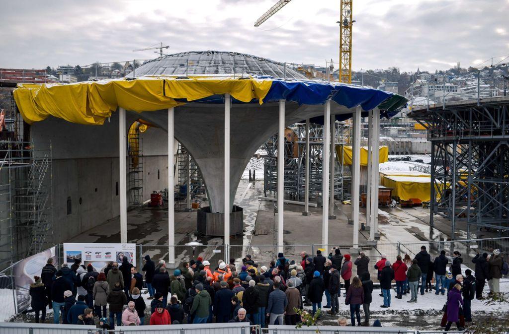 Die Kelchstütze gilt als eines der Highlights bei den Tagen der offenen Baustelle. Foto: Lichtgut/Max Kovalenko