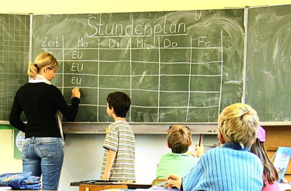 4424 Schüler werden in Stuttgart in diesem Jahr eingeschult. Foto: dpa