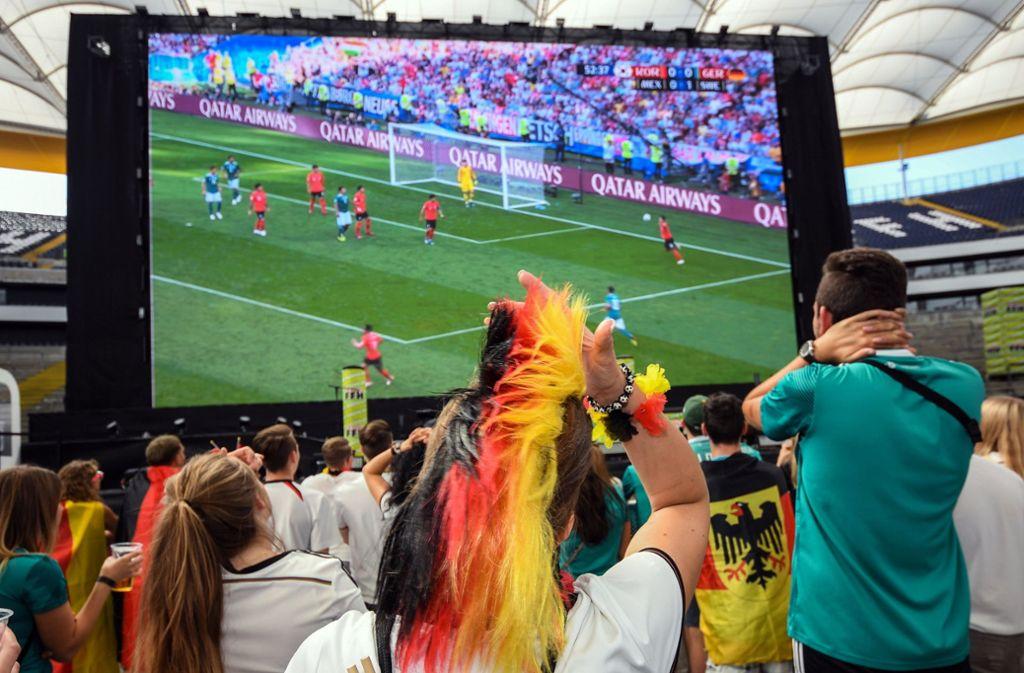 Deutschland in Schockstarre: Für Jogis Jungs ist die WM vorbei. Foto: dpa