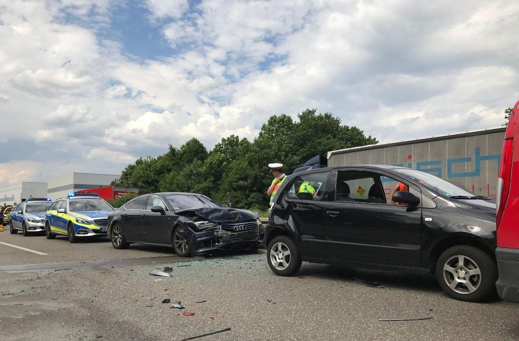 Zu diesem Unfall ist es am Dienstagnachmittag auf der B10 gekommen. Foto: 7aktuell.de/Alexander Hald