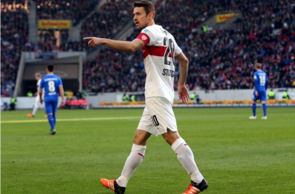 Für VfB-Kapitän Christian Gentner spielt sich gerade viel im Kopf ab. Foto: Pressefoto Baumann