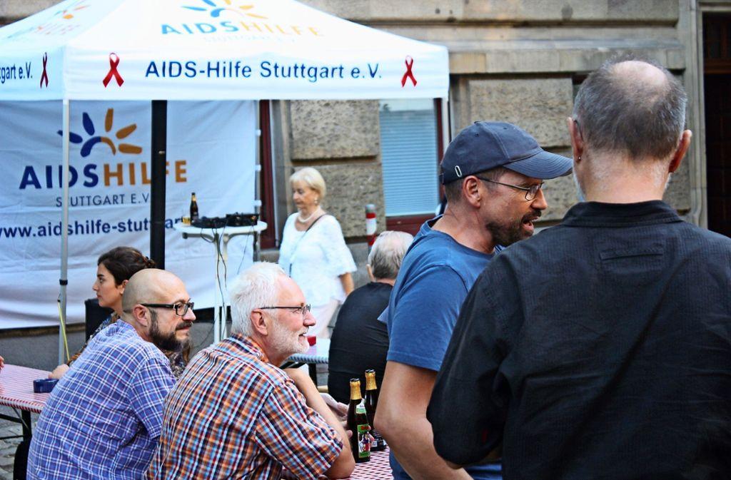 Manchen Nachbarn ist gar nicht klar, dass die Aids-Hilfe hier ist. Foto: Christoph Kutzer