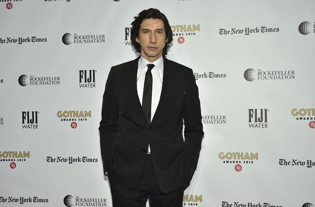 """Adam Driver gewinnt für seine Rolle in """"Marriage Story"""" den Gotham Award als bester Schauspieler. Foto: AP/Evan Agostini"""