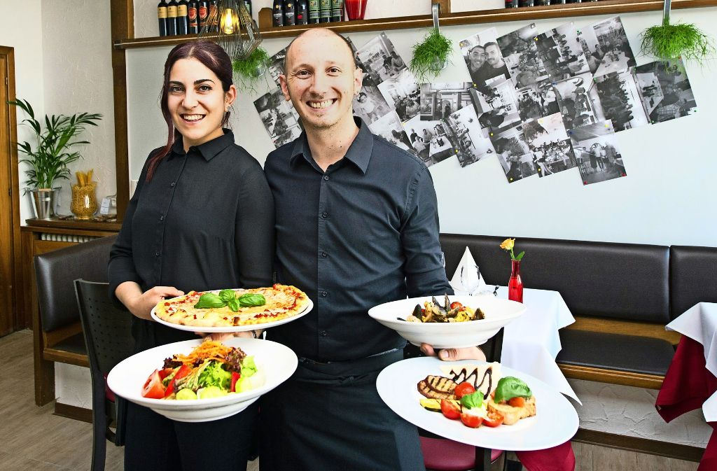 Junge Gastro-Profis: Vincenzo Pepe und  Maria Teresa Pucciarelli Foto: Lg/Oliver Willikonsky