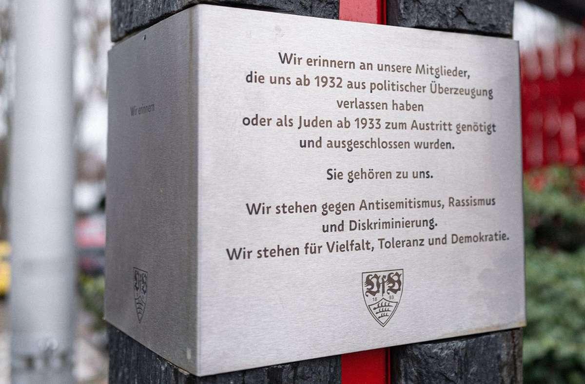 Der VfB Stuttgart hat anlässlich des Internationalen Tags des Gedenkens der Opfer des Nationalsozialismus eine starke Botschaft übermittelt. Foto: VfB Stuttgart