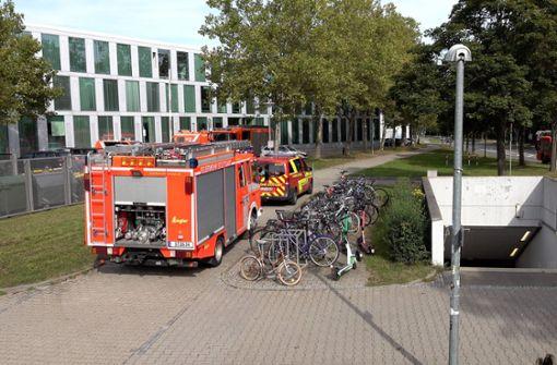 Brand in Labor der Uni Stuttgart ruft Feuerwehr auf den Plan