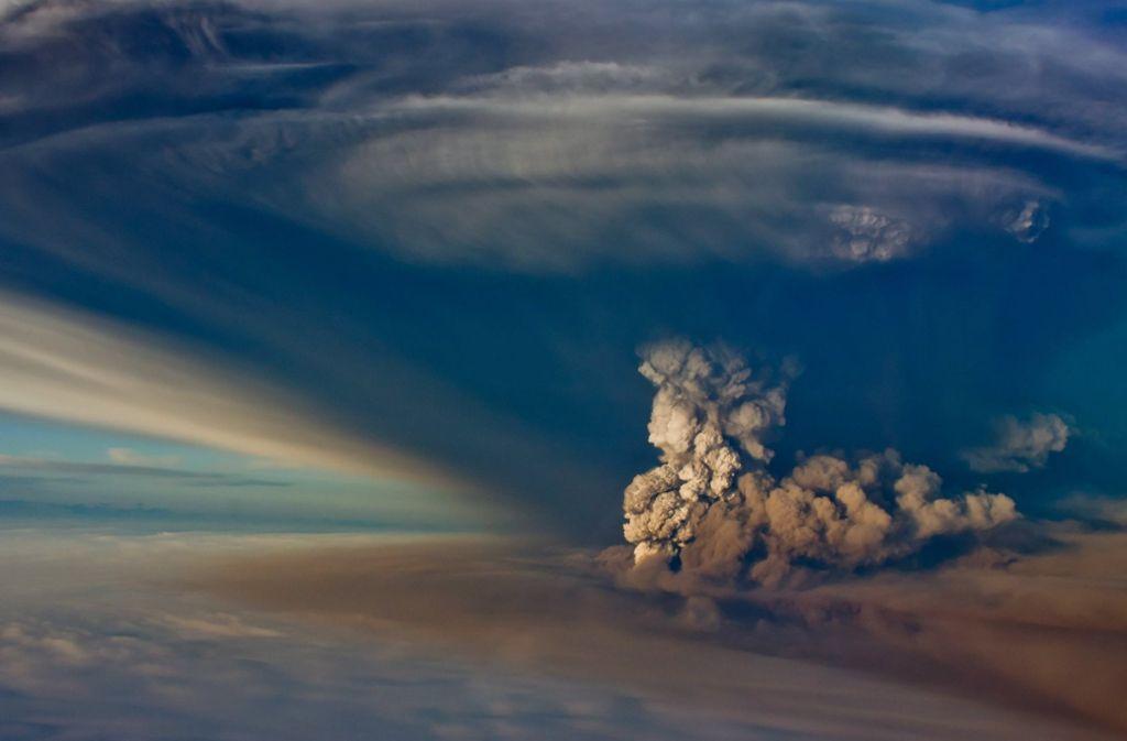 Die Eruption des Vulkans Grímsvötn im Südosten Islands war im Mai 2011 weit zu sehen. Foto:
