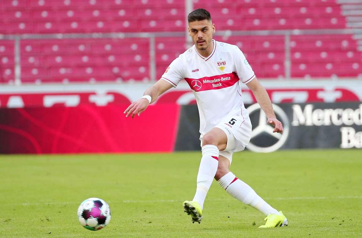 Konstantinos Mavropanos überzeugt derzeit beim VfB Stuttgart. Foto: Pressefoto Baumann/Alexander Keppler