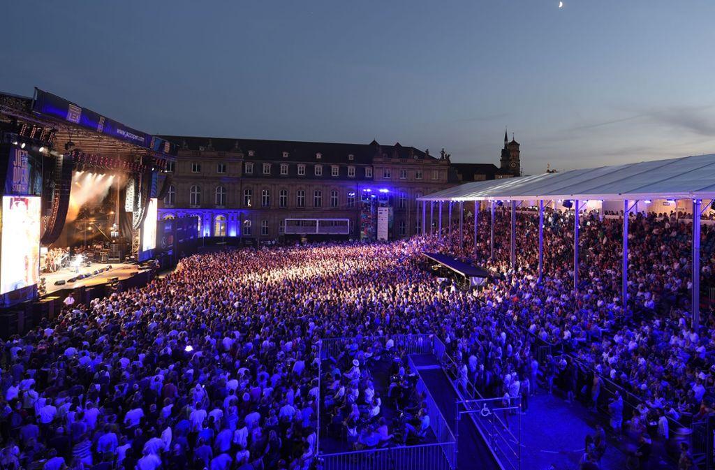 Der Auftritt von Jarimoquai am Mittwochabend auf dem Schlossplatz bei den Jazz Open war ein furioser Auftakt für zahlreiche Konzerthöhepunkte  in Stuttgart. Foto: Reiner Pfisterer