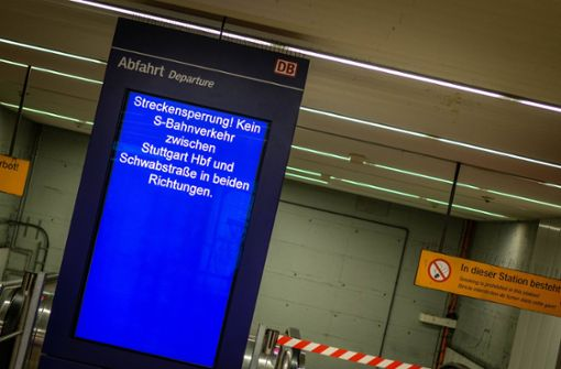 Sperrung sorgt für Verspätungen und Ausfälle bei  S-Bahnen
