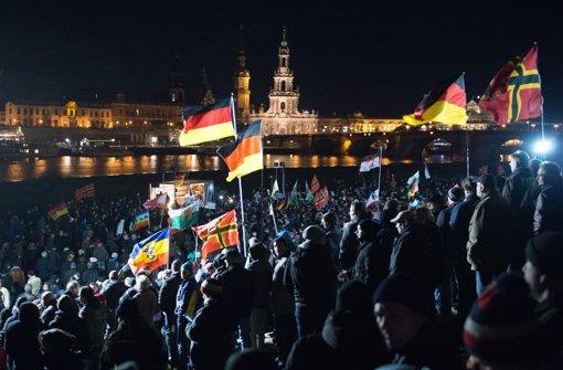 Pegida-Kundgebung in Dresden Foto: dpa