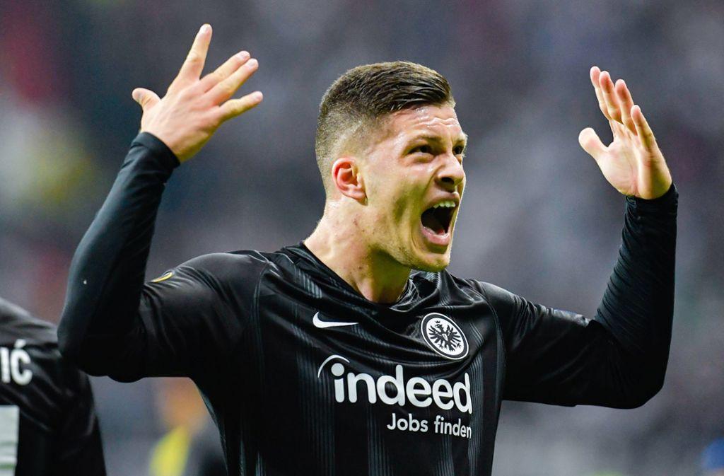 Jovic wurde in der abgelaufenen Spielzeit mit 17 Treffern Dritter der Bundesliga-Torschützenliste. Foto: dpa