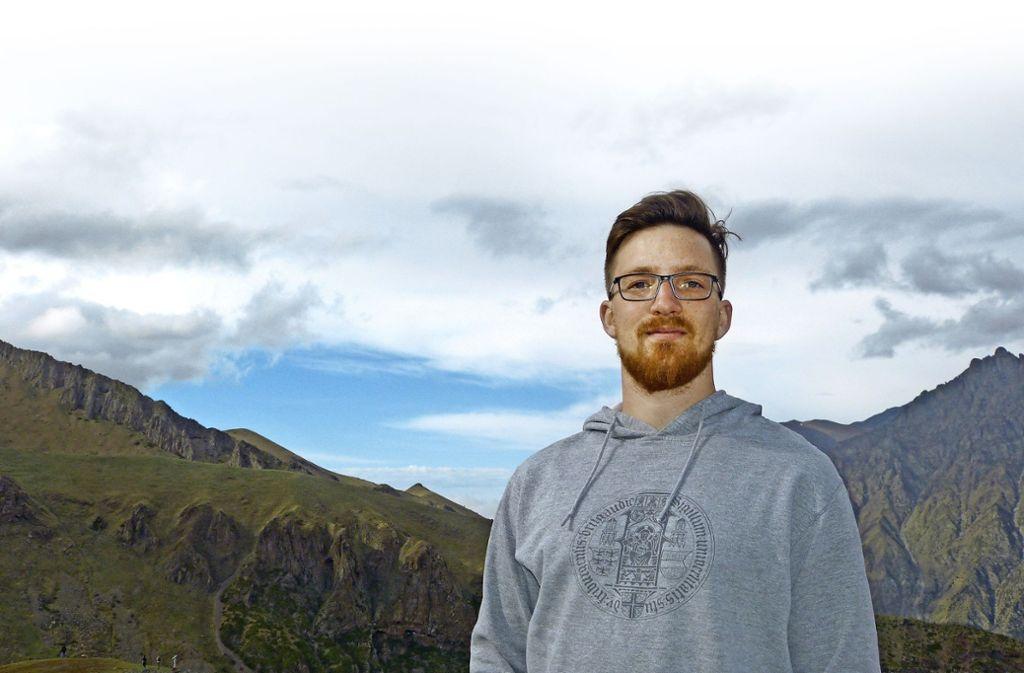 Der  Naturliebhaber und Forstwirt Jan Staubach aus Leonberg ist am liebsten draußen. Die  georgischen Landschaften faszinieren ihn besonders. Foto: privat
