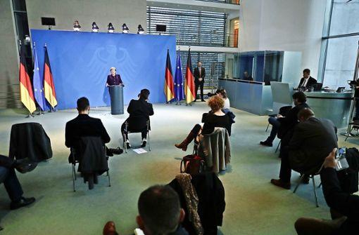 Wie Angela Merkel jetzt per Videoschalte regiert