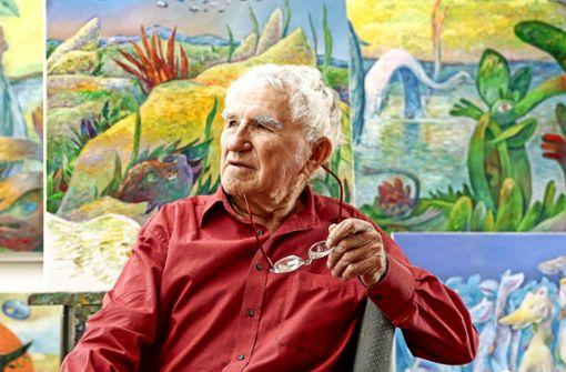 Wie der Künstler Hans Bäurle erblindet und weiter malt