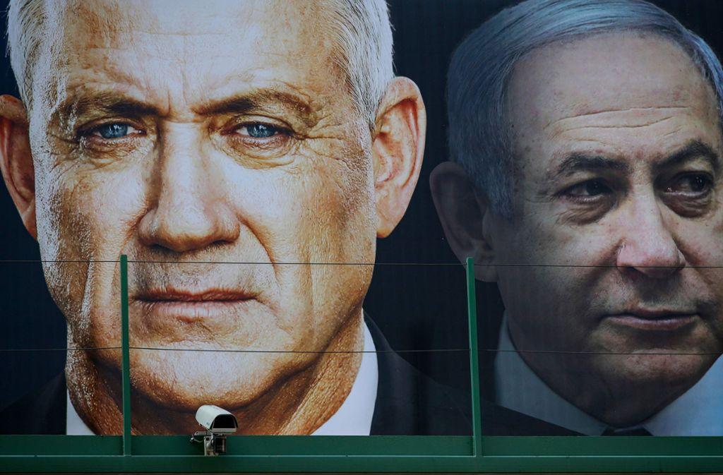 Benny Gantz (links) und Benjamin Netanjahu haben sich geeinigt. Foto: AFP/JACK GUEZ